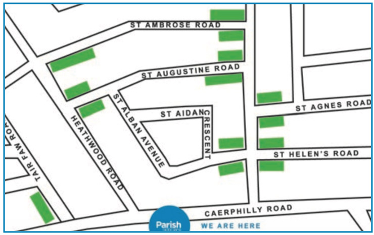 Parish Opticians Parking Map
